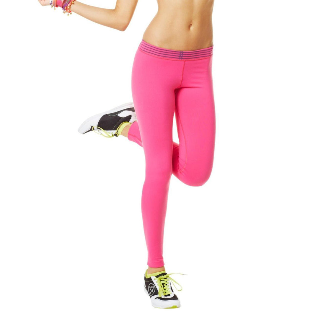 Zumba Fitness Whats Mine Is Mine Long Leggings - Pink