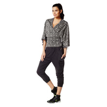 Load image into Gallery viewer, Zumba Fitness Wrap Me Up Cropped Hoodie - Thunderin Grey
