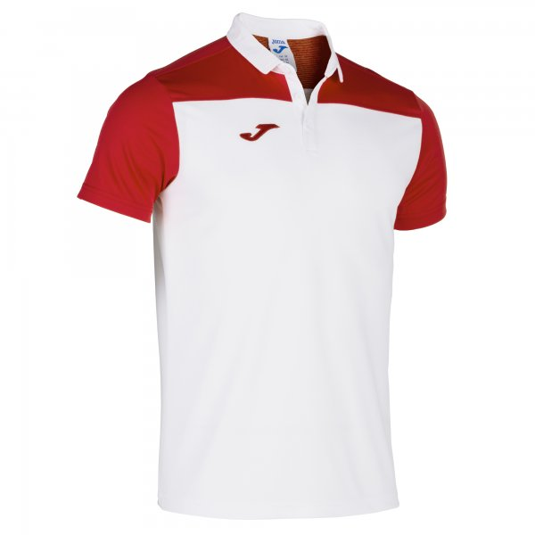 Joma Polo Shirt Hobby Ii White-Red S/S