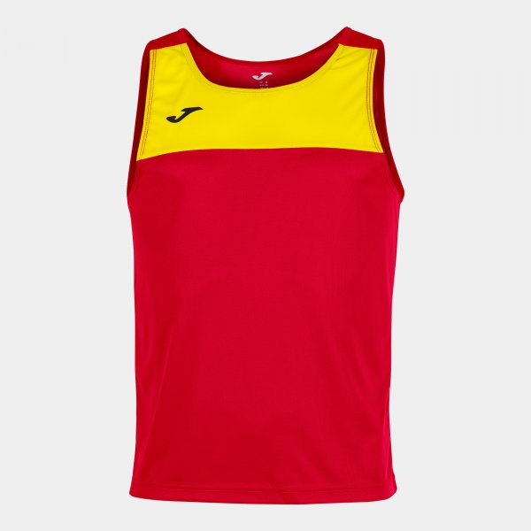 Joma Sleeveless T-Shirt Race Red-Yellow