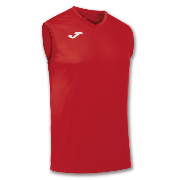 Joma T-Shirt Basic Red Sleeveless