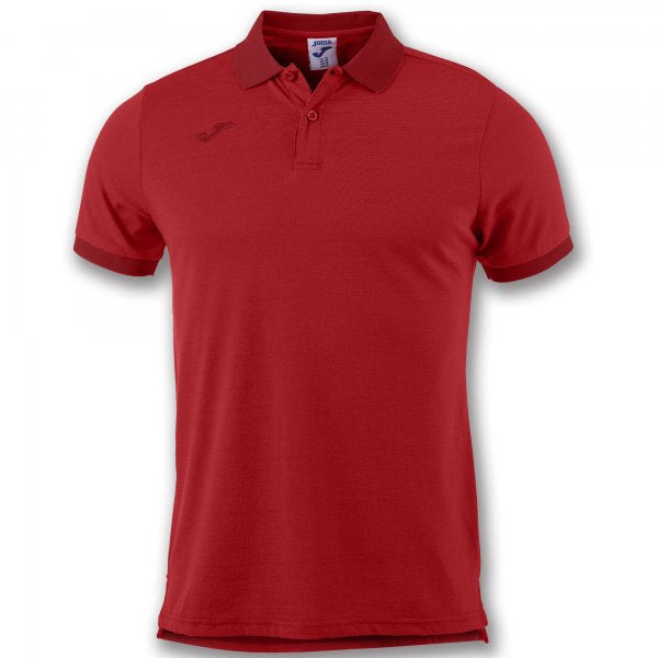 Joma S/S Polo Shirt Combi Venice With Stripes Red