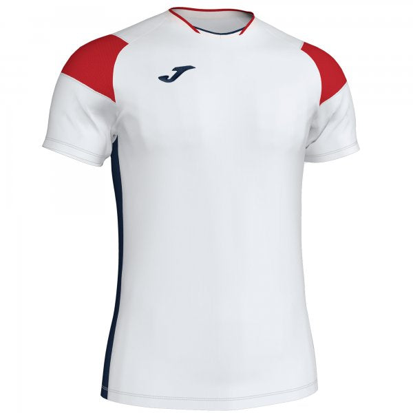Joma T-Shirt Crew Iii White-Red-Navy S/S