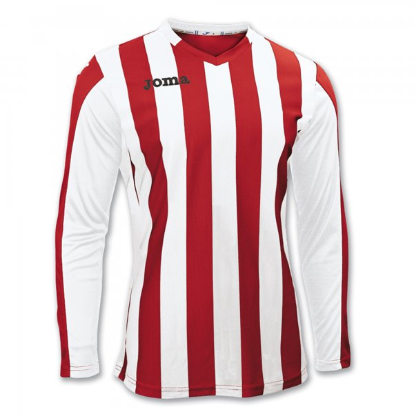 Joma T-Shirt Copa Red-White L/S