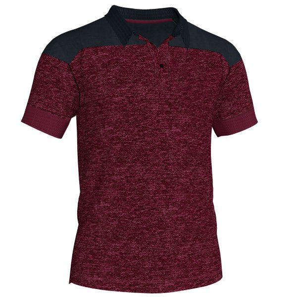 Joma Polo Shirt Winner Ii Cotton Burgundy-Black  S/S