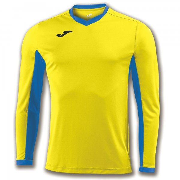 Joma T-Shirt Championship Iv Yellow-Royal L/S