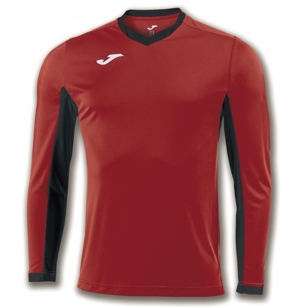 Joma T-Shirt Championship Iv Red-Black L/S