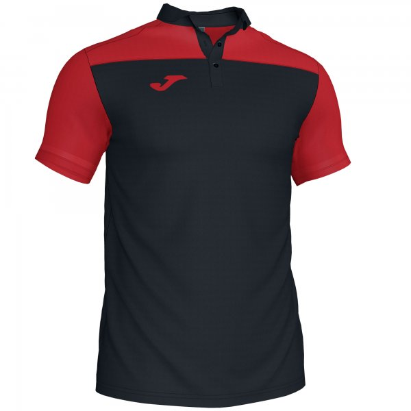 Joma Polo Shirt Hobby Ii Black-Red S/S