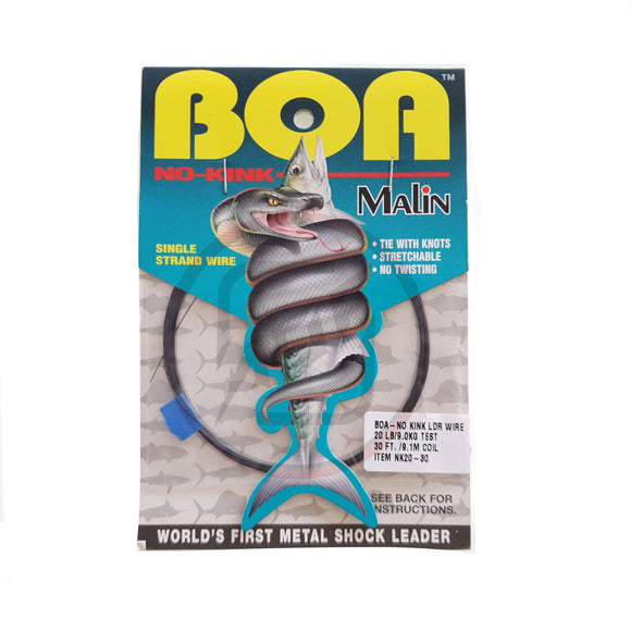 "Malin -""BOA"" No-Kink Titanium Wire Leader"