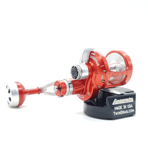 Accurate Valiant Two Speed Reel BV2-400L Red / Silver