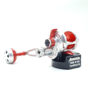 Accurate Valiant Two Speed Reel BV2-400L Silver/Red