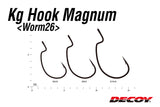 DECOY KG Hook MAGNUM Worm 26 (Made in Japan)