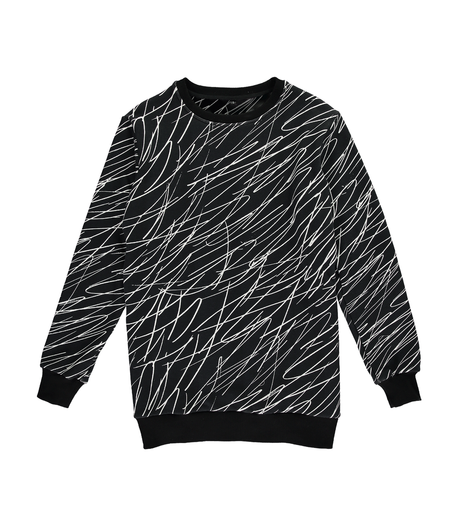 Scribble Sweatshirt — Black