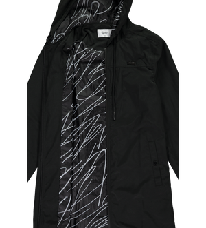 Scribble Raincoat — Black