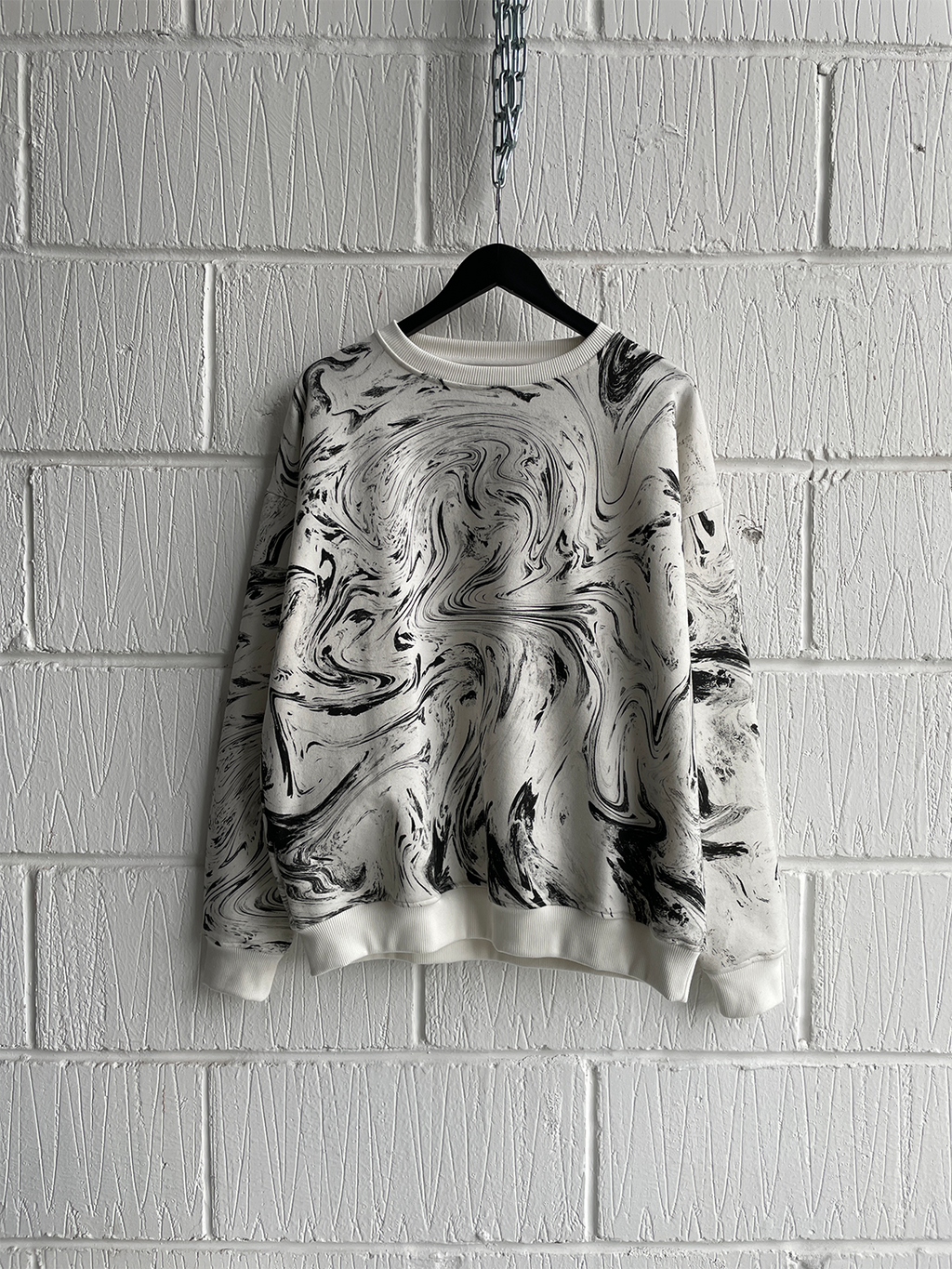 SAMPLE SWEATSHIRT — WHITE MARBLE (M)
