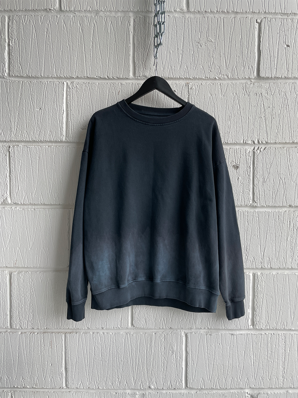 SAMPLE SWEATSHIRT — BLUE DIP-DYE (M)