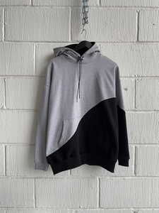 SAMPLE HOODIE — SPLIT BLACK/GREY (M)
