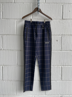 "SAMPLE PANTS — DIVISION BLUE/PEACH/WHITE CHECK (M 32"")"