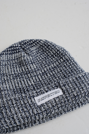 SAMPLE BEANIE — GREY BLUE KNIT
