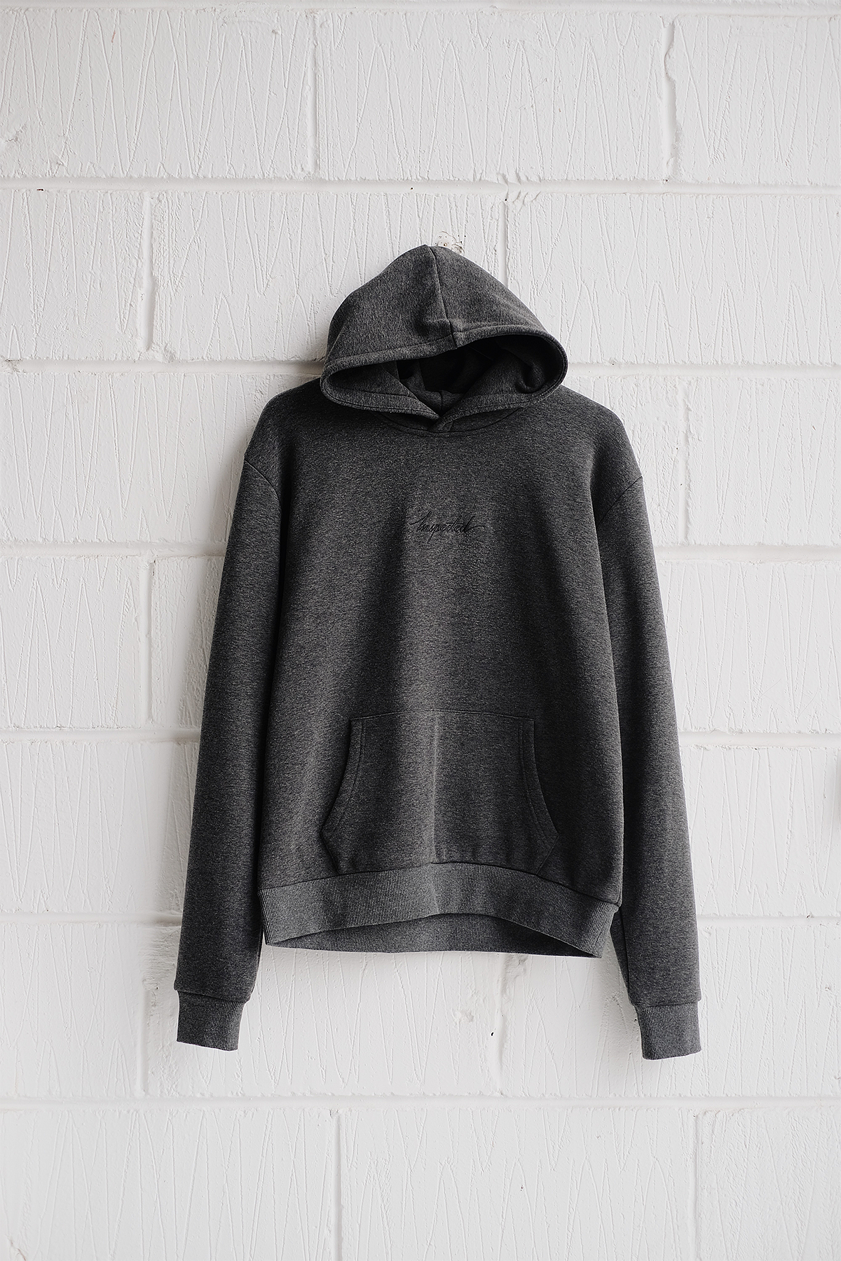 SAMPLE HOODIE — REMASTERED CHARCOAL