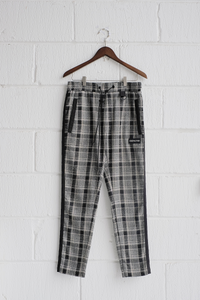 SAMPLE PANTS — DIVISION BLACK/GREY/PINK CHECK