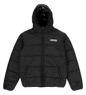 Reversible Puffer — Black/Marble