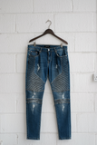 SAMPLE PANTS — BLUE BIKER DENIM