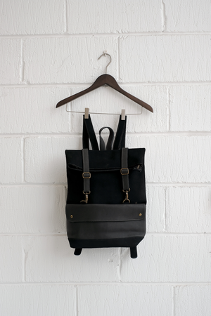 SAMPLE — LEATHER BACKPACK BLACK