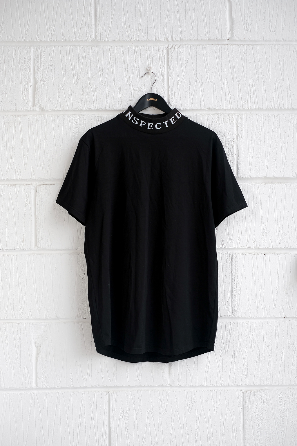 SAMPLE T-SHIRT — MOCK NECK BLACK