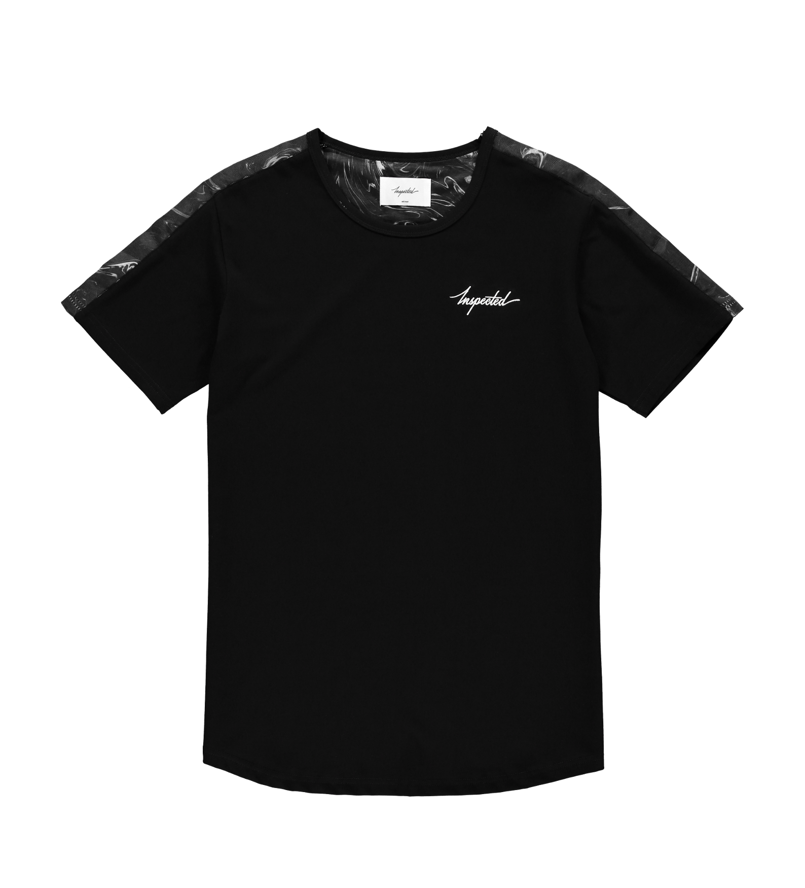Marble Remastered T-Shirt — Black