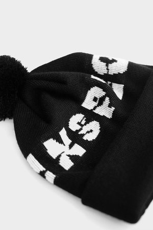 Degraded Beanie — Black