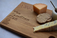Load image into Gallery viewer, The Family Clan Board - Rectangular Oak Cheese Board