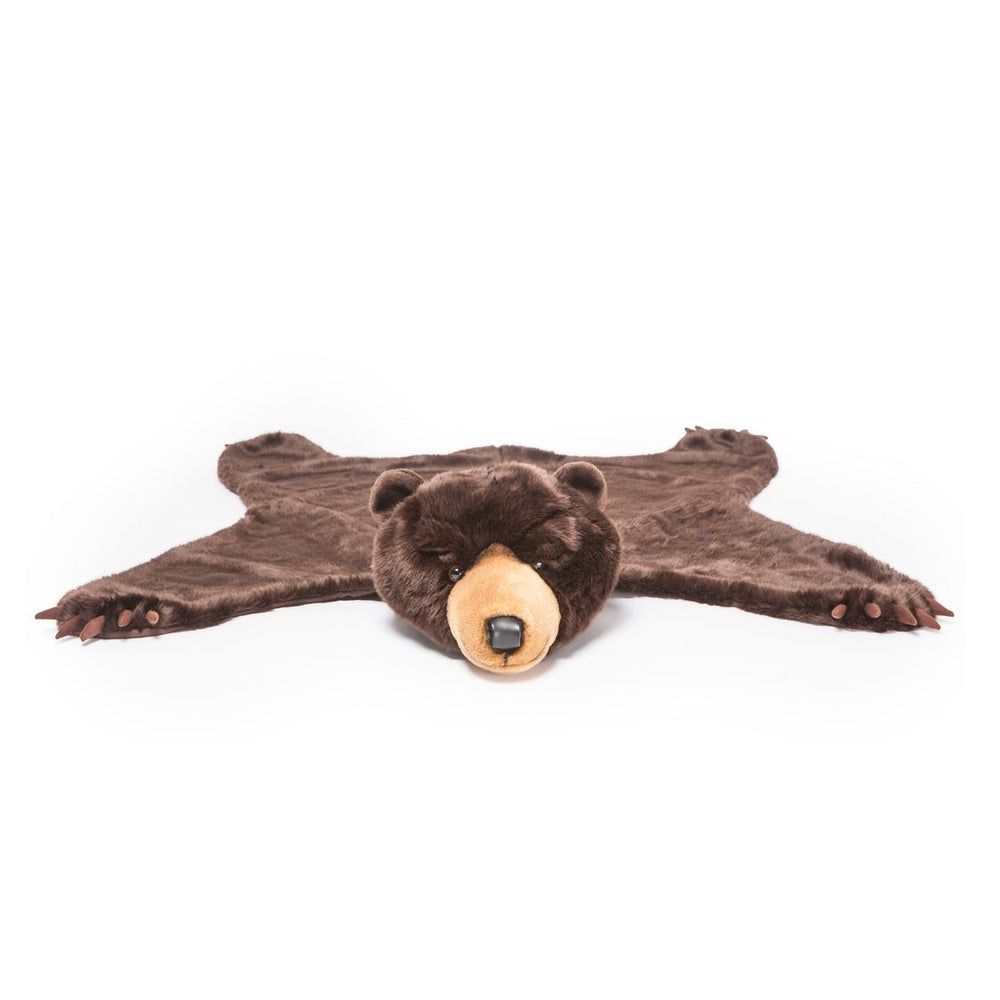 Rug dark brown bear