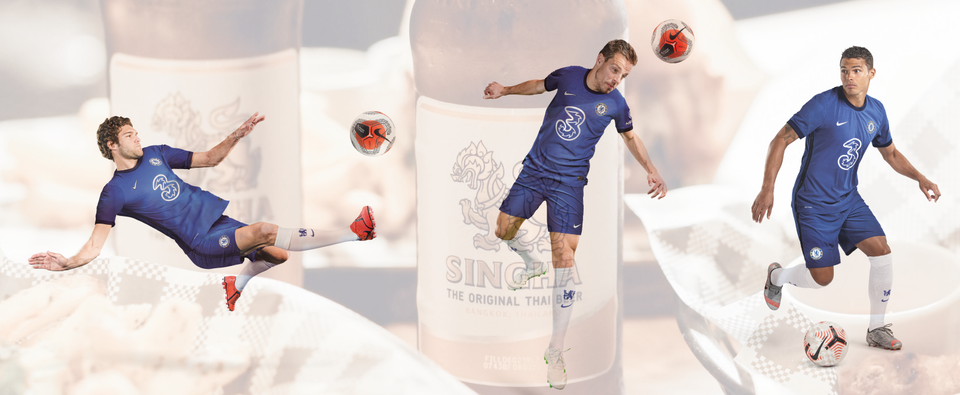 WIN WITH SINGHA & CHELSEA FC.