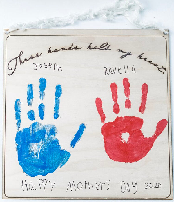 Handprint, These Hands Hold My Heart, DIY Kit