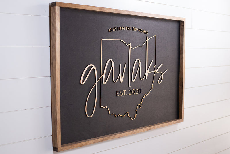 The Ohio Family Name Sign