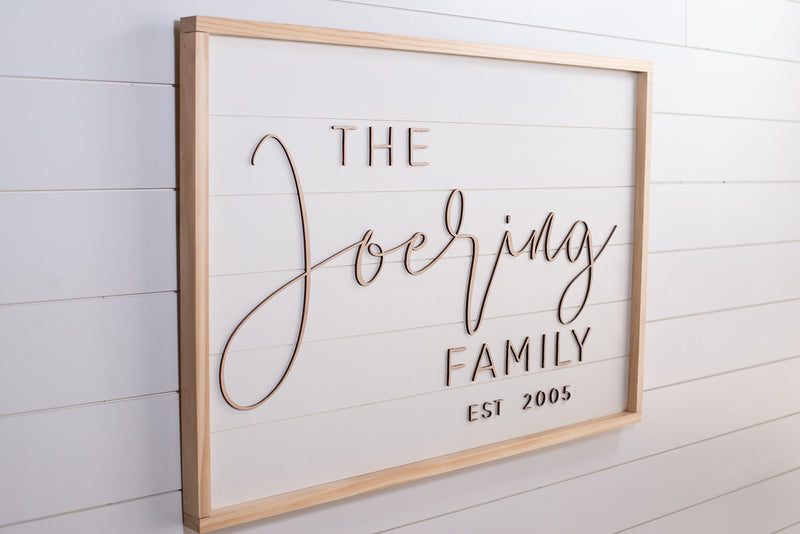 The Contemporary -Family Name Sign