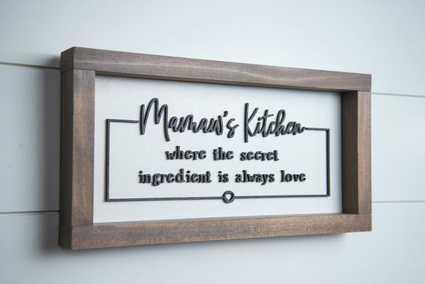 Mawmaw's Kitchen - Laser Cut Wood Letters