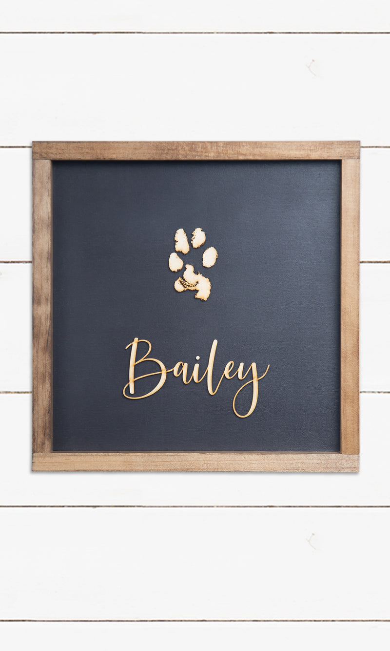Pawprint Sign