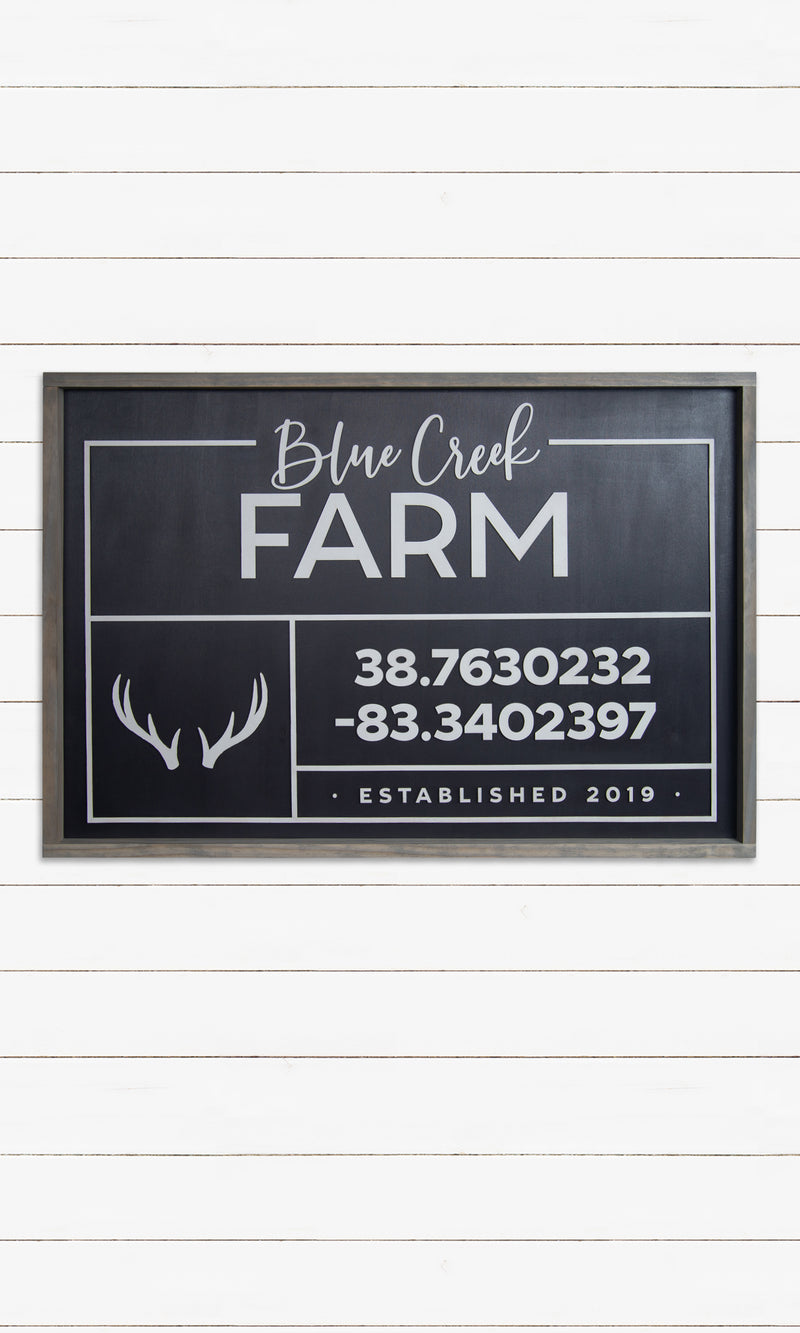 Farm Family Name Sign