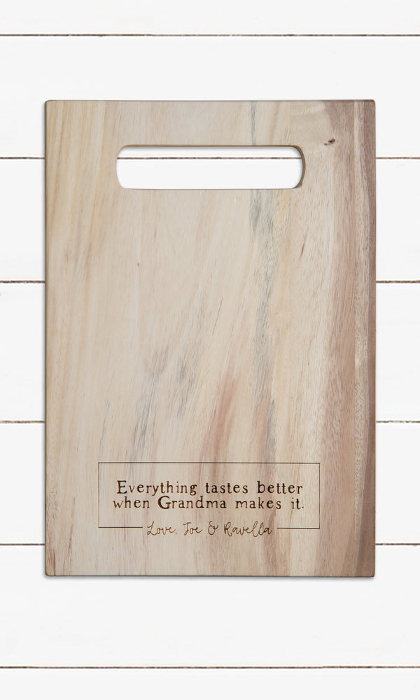 Everything Tastes Better - Personalized Cutting Board