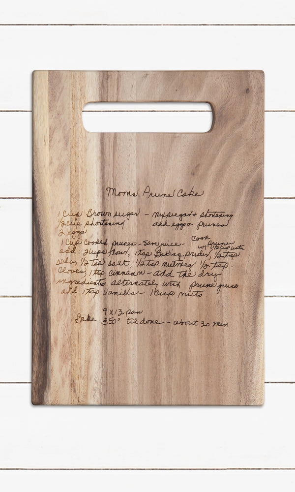 Handwriting - Recipe Cutting Board
