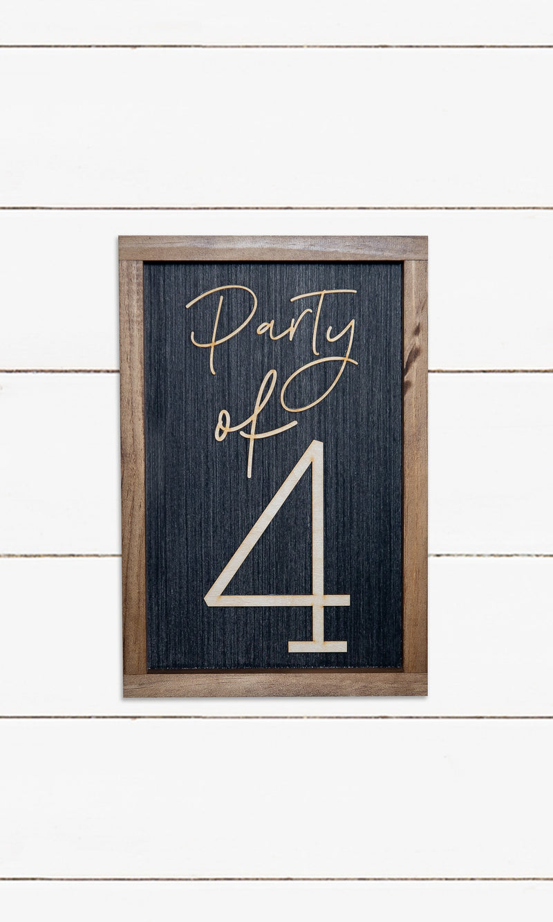 Family Party Sign