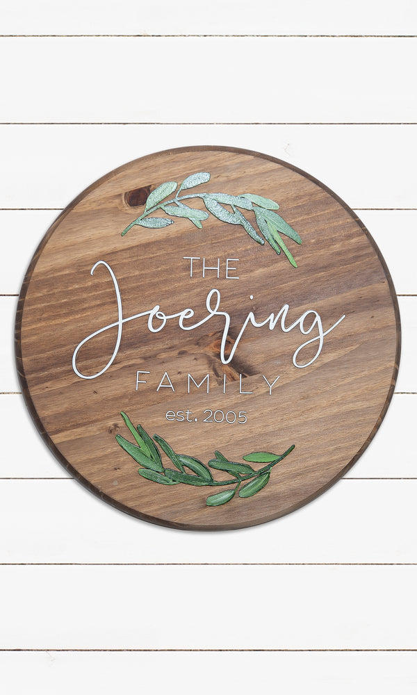 The Laurel Wreath  - Family Name Sign