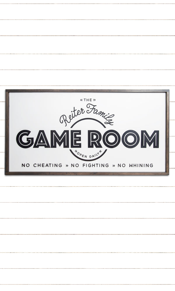 Personalized Family Game Room