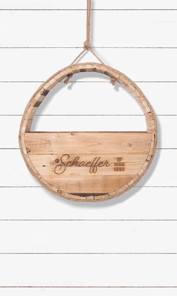 Round Hanging Wall Basket - Customized