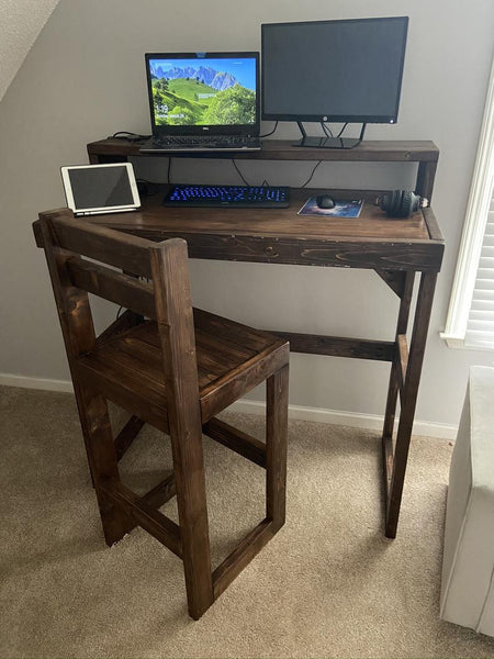 DIY standing desk wood