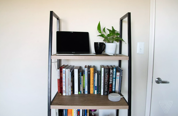 turn bookshelf into standing desk