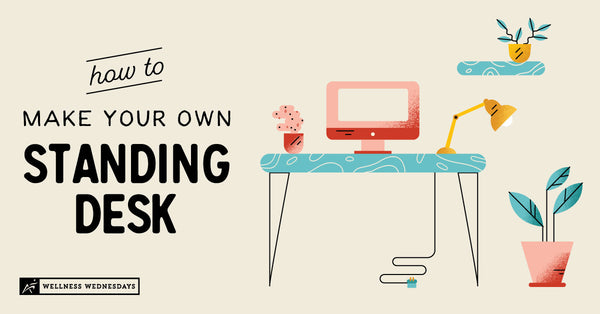 how to build your own standing desk