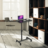 Load image into Gallery viewer, Height Adjustable Mobile Laptop Standing Desk Cart MR-02B